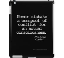Insights into important distinctions in life. (white on black) iPad Case/Skin