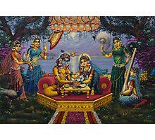 Radha Krishna. Bhojan lila Photographic Print