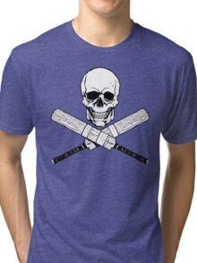 Skull and Cricket Bats Tri-blend T-Shirt