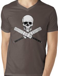 Skull and Cricket Bats Mens V-Neck T-Shirt