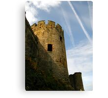 Turret, Conwy Castle, Wales. Canvas Print