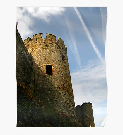 Turret, Conwy Castle, Wales. Poster