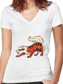 Arcanin Women's Fitted V-Neck T-Shirt