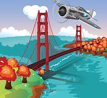 San Francisco Golden Gate Bridge by Nick  Greenaway