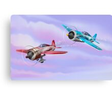 World War Two Fighter Aircraft Canvas Print