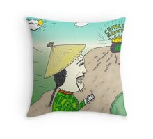 Chinese Growth comic strip panel Throw Pillow