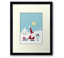 Santa and the Little Angel Framed Print
