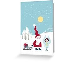 Santa and the Little Angel Greeting Card