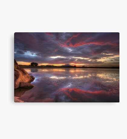 Following Red Canvas Print