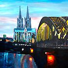 Cologne, Cathedral with Hohenzollernbridge  by artshop77