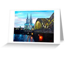 Cologne, Cathedral with Hohenzollernbridge  Greeting Card