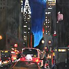 New York - Chrysler Building Street Scene by artshop77