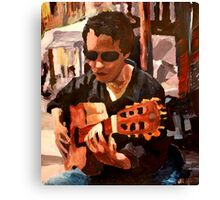 The Guitar Player from the Matrix Canvas Print