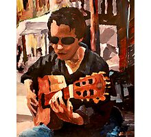 The Guitar Player from the Matrix Photographic Print