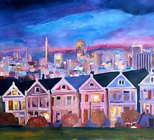 San Francisco - Painted Ladies - Alamo Sq by artshop77