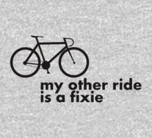 my other ride is a fixie. One Piece - Short Sleeve