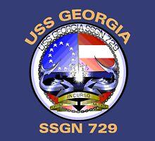 USS Georgia (SSGN-729) Crest for Dark Colors Unisex T-Shirt