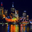 City Lights Across The Yarra by TonyCrehan
