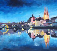 Regensburg - Reflections at Dawn by artshop77