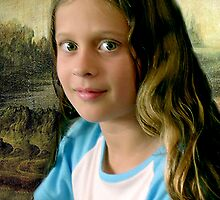 Samantha, with Mona Lisa background by ronsphotos
