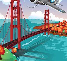 The Golden Gate Bridge San Francisco  by Nick  Greenaway