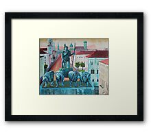 Munich Leopold Str. with Bavaria and Alps Framed Print
