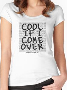 lyrics series: cool if I come over Women's Fitted Scoop T-Shirt
