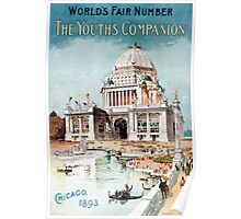 Vintage 1893 Chicago World's fair expo  Poster
