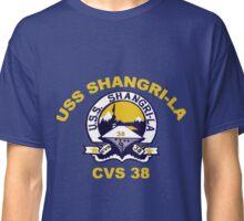 USS Shangri-La (CV/CVA/CVS-38) Crest for Dark Colors Classic T-Shirt