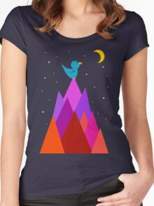The Moon is my friend Women's Fitted Scoop T-Shirt