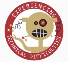 Robot head experiencing technical difficulties Kids Tee