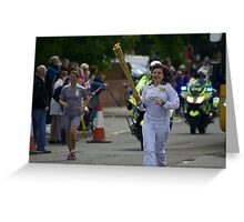 Olympic Torch, Thatcham Greeting Card