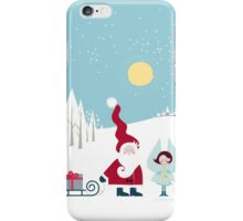 Santa and the Little Angel iPhone Case/Skin