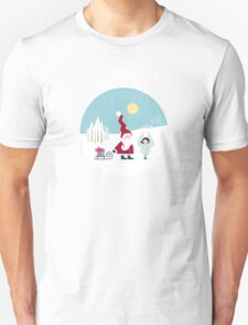 Santa and the Little Angel Unisex T-Shirt