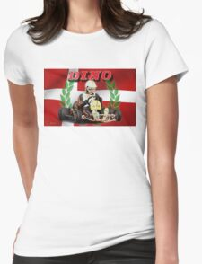 DINO KART Vintage pic Harm Schuurman  Womens Fitted T-Shirt