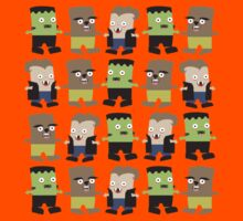 Cute baby Halloween monsters by BigMRanch