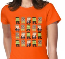 Cute baby Halloween monsters Womens Fitted T-Shirt