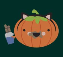 Cute kawaii kitty costume pumpkin with candy bar by BigMRanch
