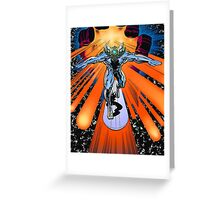 The true Silver Surfer Greeting Card