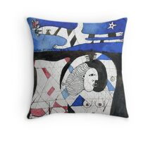 the red back Throw Pillow