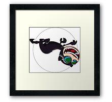 Catwoman hunts for treasure Framed Print