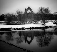 Bolton Abbey in Winter by Peter Moore