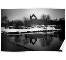 Bolton Abbey in Winter Poster