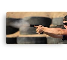 pistol shooting   Canvas Print