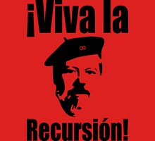 Dennis Ritchie: ¡Viva la Recursión! - Black on Red Design for Programmers Unisex T-Shirt