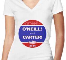 O'Neill - Carter for President Women's Fitted V-Neck T-Shirt