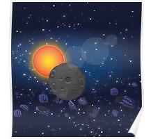 Solar System,Sun Moon Astroids Poster