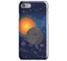 Solar System,Sun Moon Astroids iPhone Case/Skin