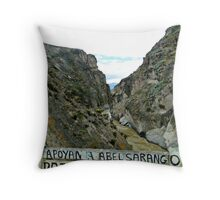 River Canyon in Yunguilla Throw Pillow