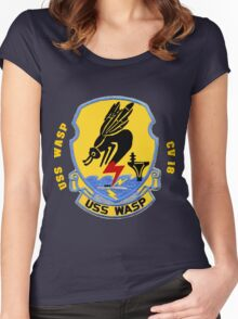 USS Wasp (CV/CVA/CVS-18) for Dark Colors Women's Fitted Scoop T-Shirt